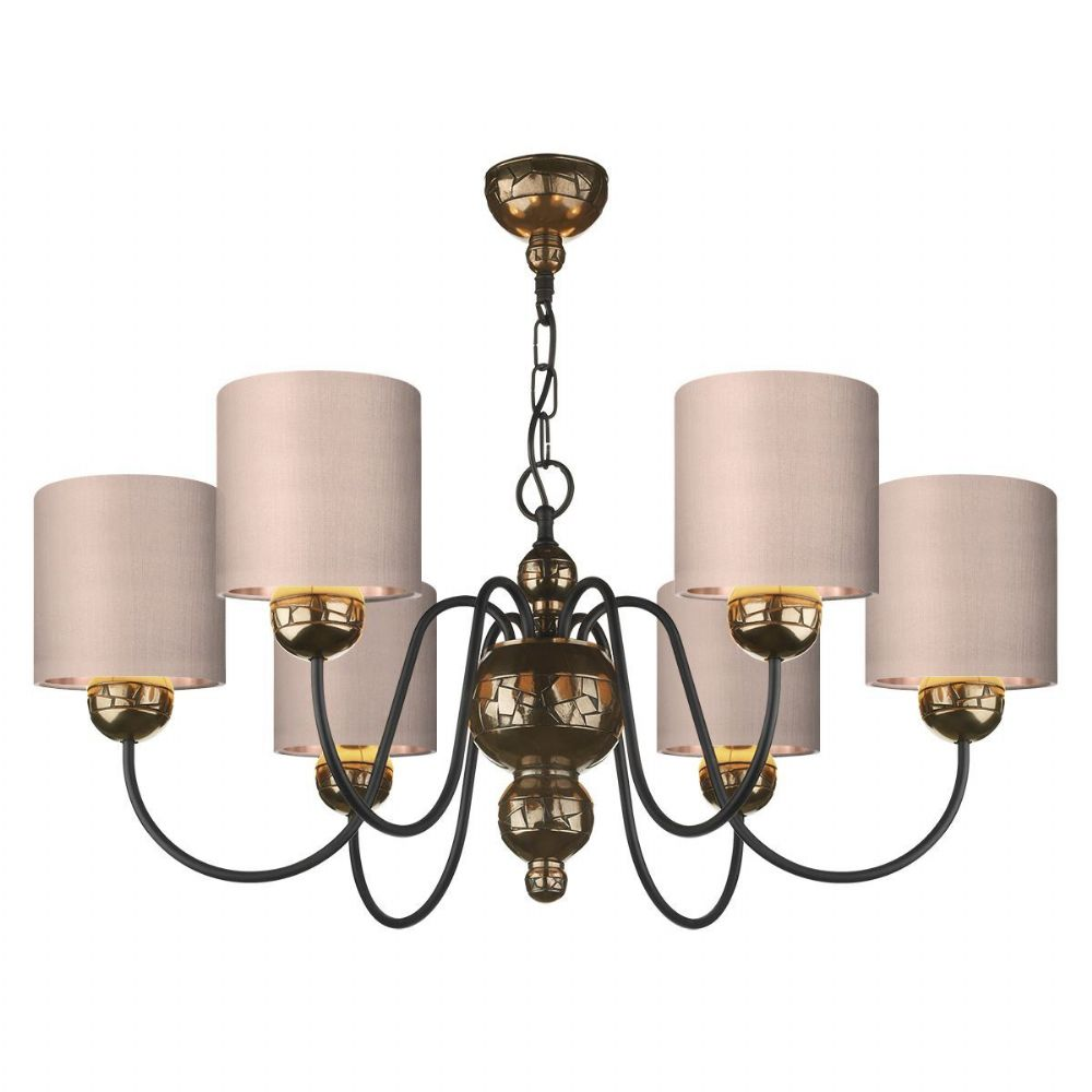 Garbo 6 Light Pendant Bronze + Bespoke Shade (Specify Colour) GAR0600 (7-10 day Delivery)